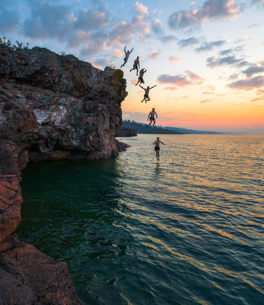 lake superior cliff jumping area