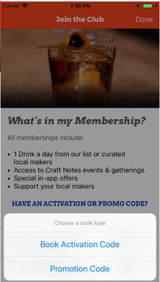 craft notes drink passport brewery, distillery, restaurant activate my app