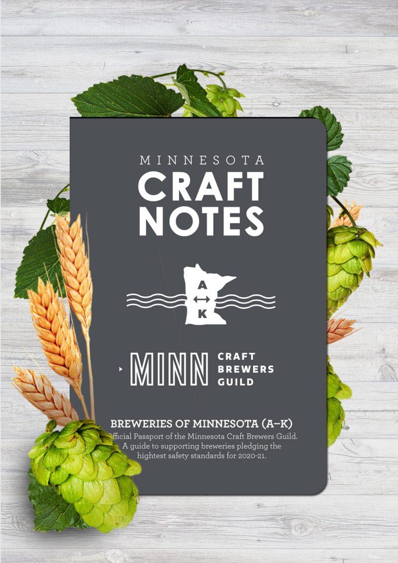 Minnesota Craft Beer Passport 2021 MN Craft Brewers Guild breweries A-K