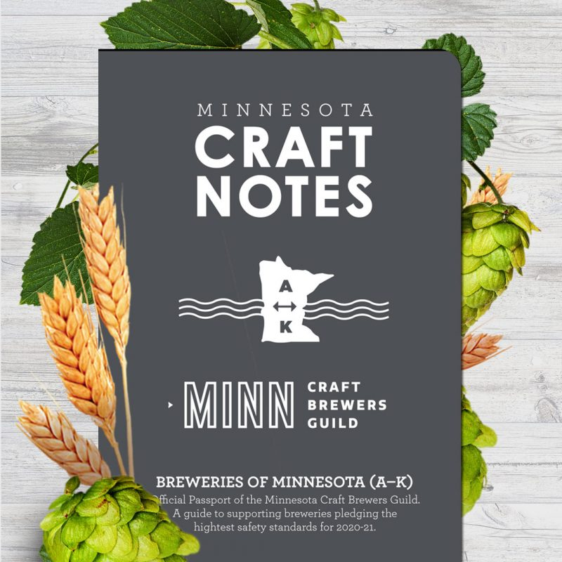 Minnesota Craft Beer Passport 2021 MN Craft Brewers Guild breweries A-K