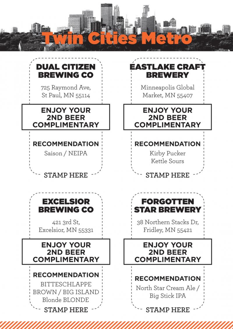 Craft Beer Passport Stamp Page