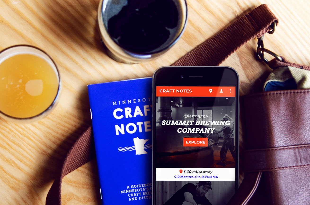 craft notes mobile app and craft beer passport book